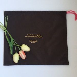 Kate Spade Brown Dust Bag with Pink Draw String
